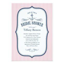 Nautical Bridal Shower Invitation Card