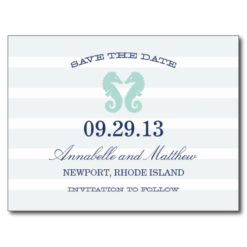 Nautical Seahorse   Save The Date Post Card
