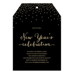 New Year'S Confetti | Holiday Party Invitation Card