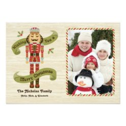 Nutcracker Christmas Photo Card Invitation Card