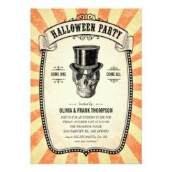 Vintage Carnival Show Halloween Invitation Card