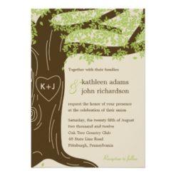 Oak Tree Wedding Invitation Card