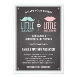 Old Time Shower | Gender Reveal Invitation Card