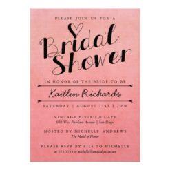 Ombre Bridal Shower Invitation Card