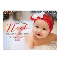 Our First Noel | Photo Christmas Card Invitation Card