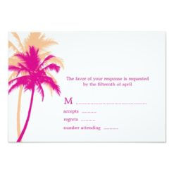 Palm Trees Wedding Response Cards Invitation Card