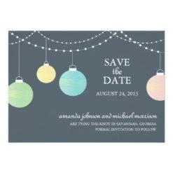 Paper Lantern Wedding Save The Date Invitation Card
