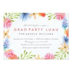 Paradise Birthday Luau Invitation Card