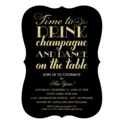 Party Invitations | Time To Drink Champagne Invitation Card