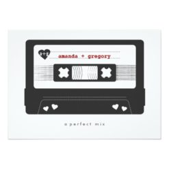 Perfect Mix - Mix Tape Save The Date Card Invitation Card