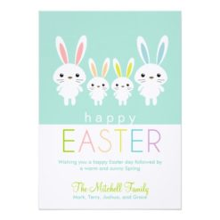 Personalized Easter Bunnies Greeting Card Invitation Card