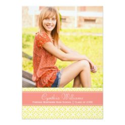 Photo Graduation Party | Geometric Pattern Invitation Card