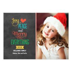 Photo Holiday Greeting Card | Black Chalkboard Invitation Card