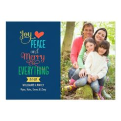 Photo Holiday Greeting Card | Merry Everything Invitation Card