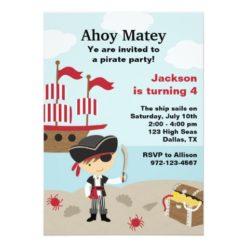 Pirate Birthday Invitation Card
