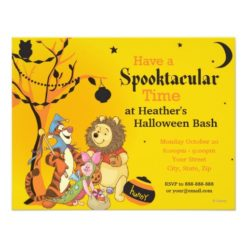 Pooh And Pals Halloween Party Paper Invitation Card