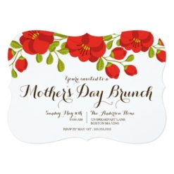 Poppy Garden Floral Mother'S Day Brunch Invitation Card
