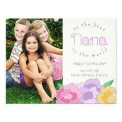 Precious Florals Happy Mother'S Day Nana Card Invitation Card