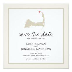 Provincetown Cape Cod Wedding Save The Date Square Paper Invitation Card