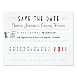 Punch Card Save The Date Invitation Card