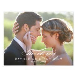 Pure Elegance Wedding Photo Thank You Card Invitation Card