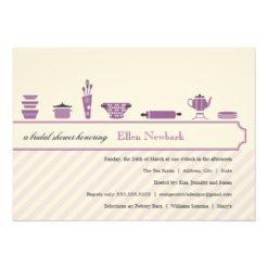 Purple Bridal Shower Invitation Card