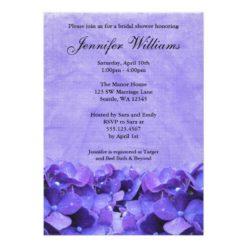 Purple Hydrangea Bridal Shower Invitation Card