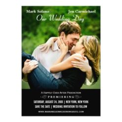 Save The Date Card | Movie Poster Design Invitation Card