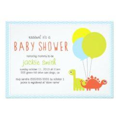 Rawr! Dino Baby Shower Invitation Card