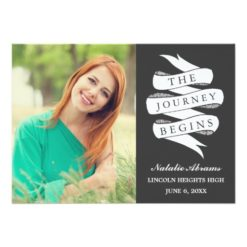 Journey | Custom Color Graduation Party Invitation Card