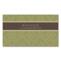 Regal Damask Designer (Palmetto) Double-Sided Standard Business Cards (Pack Of 100)