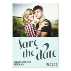 Retro Engagement | Save The Date Announcement Invitation Card