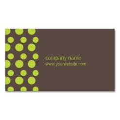 Retro Modern Dots (Green) Double-Sided Standard Business Cards (Pack Of 100)