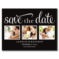 Retro   Save The Date Announcement Postcard