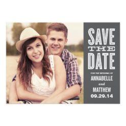 Retro Side Strip | Save The Date Announcement Invitation Card