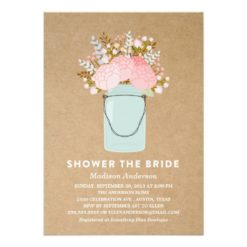 Rustic Flowers   Bridal Shower Invitation Card