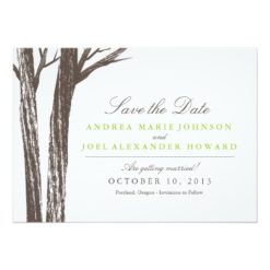 Rustic Forest Wedding Save The Date Invitation Card
