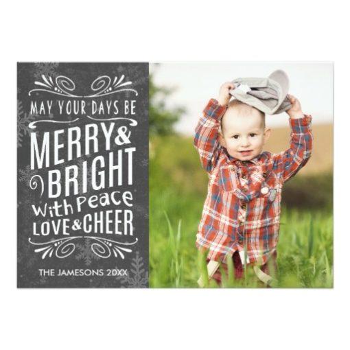 Rustic Snowflakes Holiday Photo Card Invitation Card