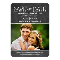 Save The Date Card | Black Chalkboard Charm Invitation Card
