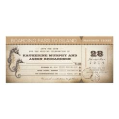 Save The Date Invitation Boarding Pass Tickets Invitation Card