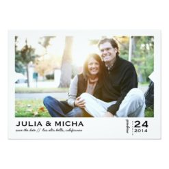 Save The Date Pointed Frame Photo Card Invitation Card