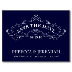 Save The Date Postcard With Calligraphic Frame