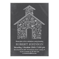 Schoolhouse Teacher Retirement Invitation Card