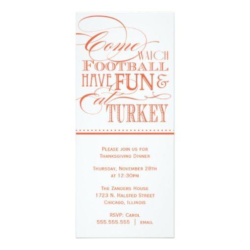 Script Thanksgiving Dinner Invitation Card