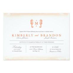 Seaside Monogram Wedding Invitation Card