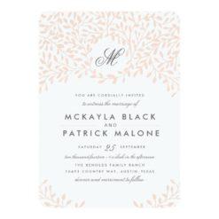 Secret Garden Wedding Invite - Blush Invitation Card