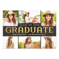 Shining Future Graduation Announcement Invitation Card