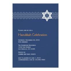 Shining Star Hanukkah Party Invitation Card