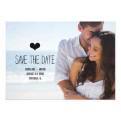 Simple Photo Save The Date Invitation Card