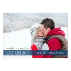 Simple Stripes Wedding Save The Date Mini Invitation Card